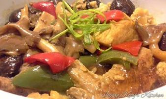 Braised Soy Sauce Chicken With Assorted Mushrooms